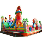High quality inflatable fun city, forest bear theme children inflatable amusement park