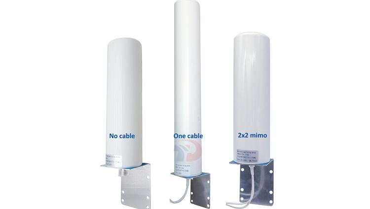 Impermeable al aire libre router inalámbrico antena Omni-direccional 12dBi Lte combo 2x2 Mimo 4g antena