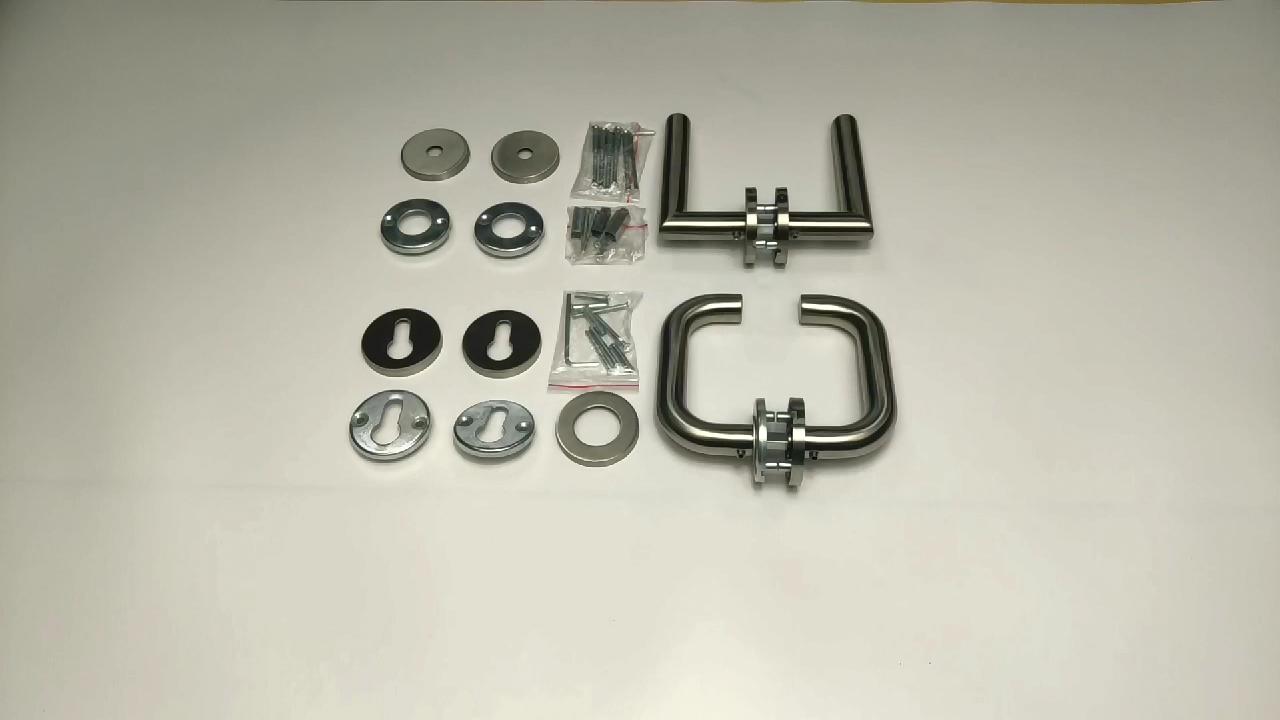 Stainless Steel Tubular Lever Door Pull Handle Door Hardware