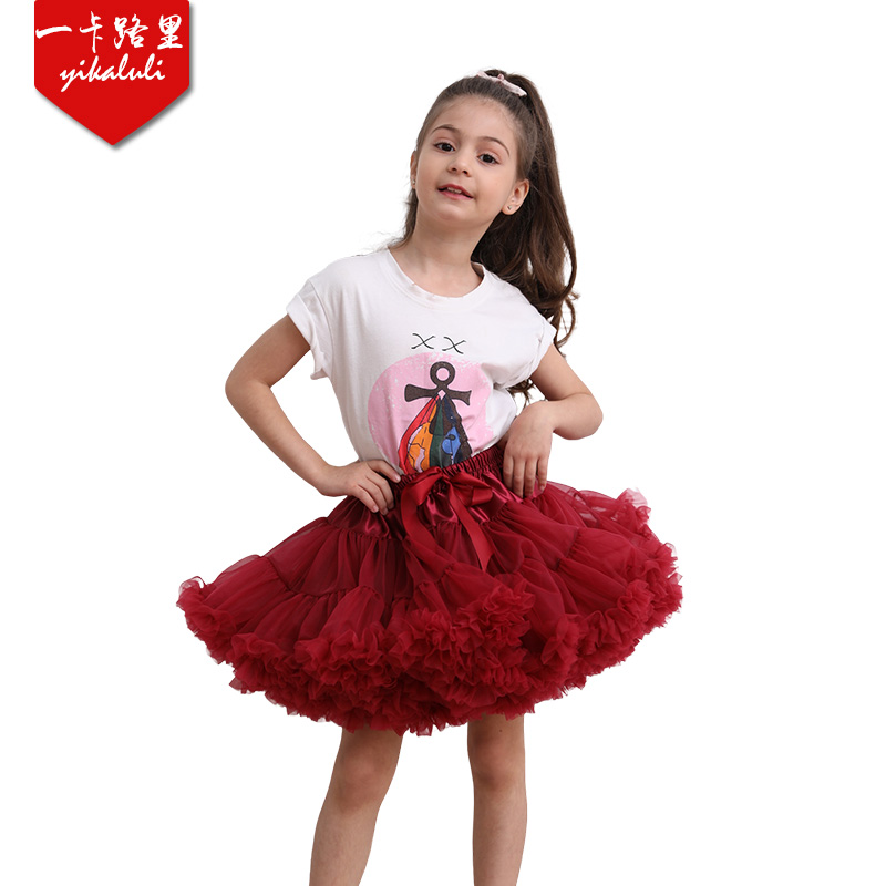 Hot Sale Fluffy Baby Children Girls Kids Princess Party Skirt Dancewear Ballet Tutu Pettiskirt Puffy Tulle  3Layers Sweet Skirt