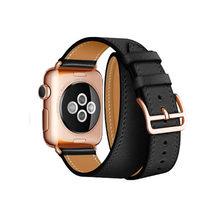 Для Apple Watch Band 5 4 3 2 1 оригинальный логотип Herm на пряжке двойной Свифт кожаный ремешок для Apple Watch iWatch 44/40 мм(Китай)