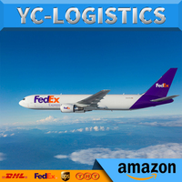 DDP door to door delivery service air express shipping cost from China to USA FBA Amazon