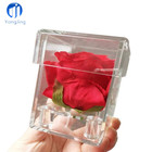 YongJing Custom logo Valentines Rose Display Case Clear Plastic Acrylic Gift Box