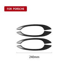 Подходит для аксессуаров Porsche Macan 2017 2018 2015 2016Car, из углеродного волокна, декоративная чашка для выхода воздуха, окно, панель, Стайлинг автомоб...(Китай)