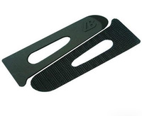 Injection molded sleeve tab for jacket cuff, hook and loop tape for garment