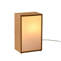 Japanese style hotel room night stand light bamboo paper table lamp