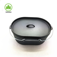 Wholesale Camping Cast Iron Cookware Oval Dutch Oven Kitchen Tools Oval Dutch Oven For Camping Cook