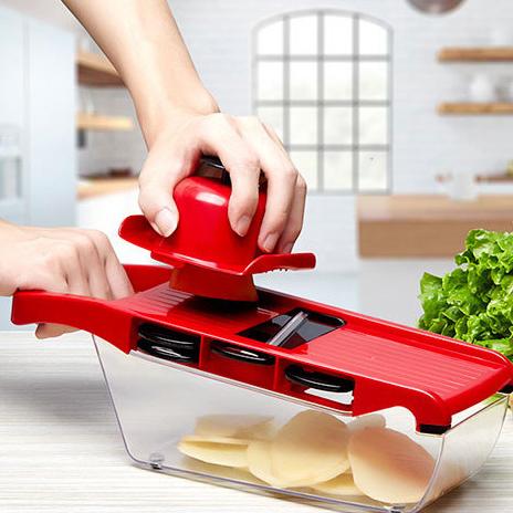 Sayuran Chopper Spiralizer Sayuran Slicer-Bawang Cutter dengan Wadah-Pro Food Chopper Slicer Dicer Pemotong
