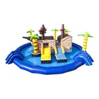 2020 New Design Kids&Adults Outdoor Commercial Inflatable Stander Pirateship Water Park For Aquatic Leisure Goods