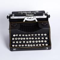 Retro-vintage black typewriter model home bar coffee shop furnishings