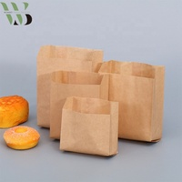 Oil grease-proof brown kraft paper french fries burger wrapping bag