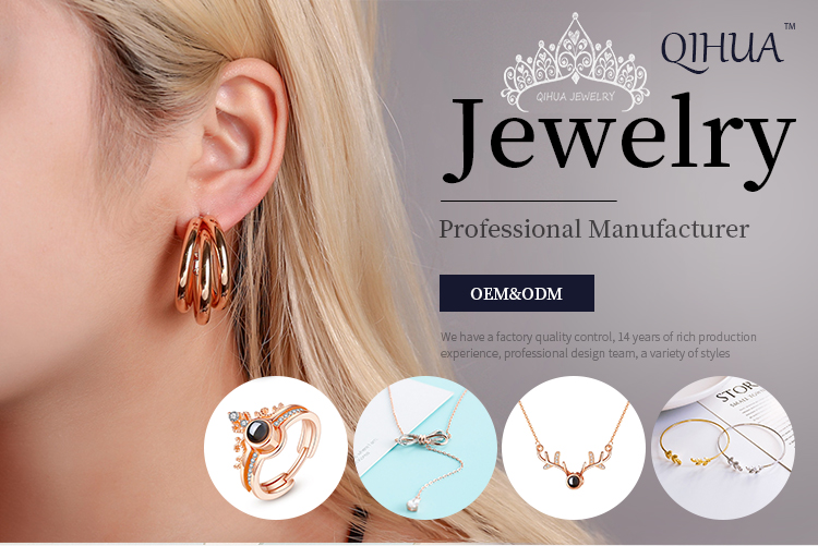 Qihua jewelry China factory Hot Selling New Designs Gold Plated Color Metal big trendy Vintage fasion Earrings For Women