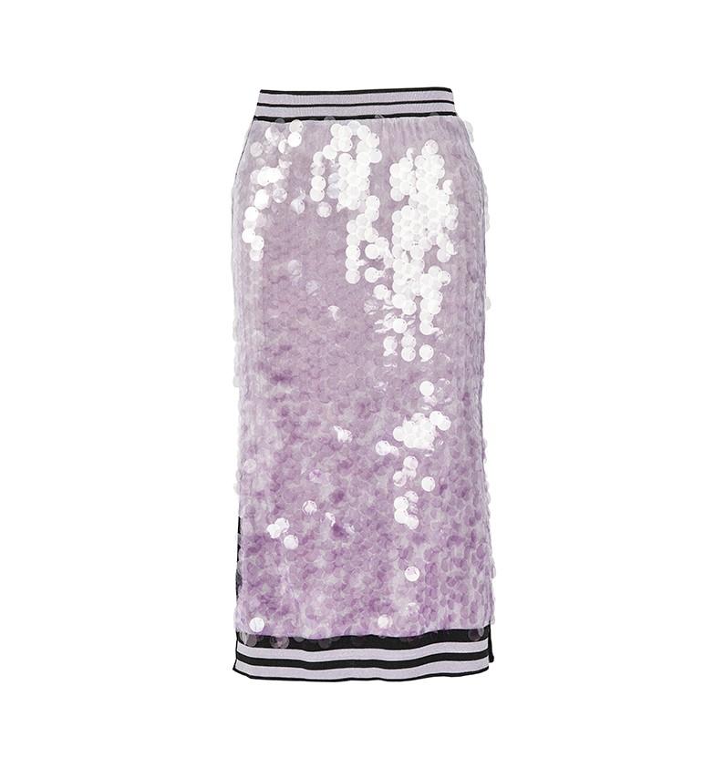 8c394cfc4 Venta al por mayor ropa de diseñador 2020 nueva llegada elegante Mujer  Faldas estilo largo de punto falda con lentejuelas