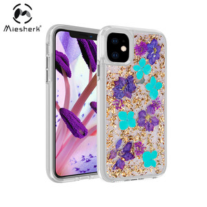 Real Flowers For iPhone 11 Cover Shockproof Protect Custom Design Phone Case
