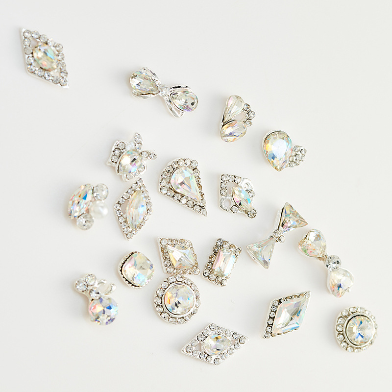 designs crystal nail art new 2019 jewelry alloy accessories Nail Art 3d caviar metal, Colorful