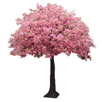 2020 new fairy style wedding 4 forks 8 inch fake large blossom flowers trees artificial cherry tree