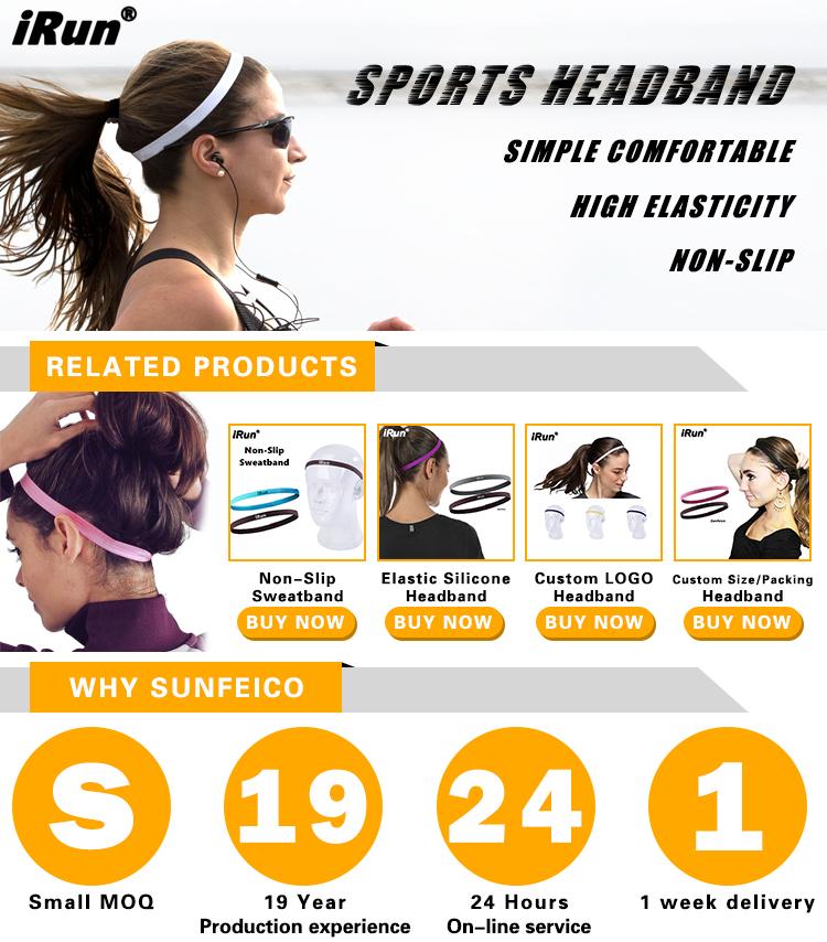 IRun ราคาถูกขายส่งคุณภาพสูงแฟชั่นโยคะ Hairbands ลื่นกีฬาน้ำหนักเบาผู้หญิง Headbands