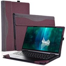 Чехол для ноутбука Lenovo Yoga C740 14 дюймов, чехол из искусственной кожи, Воздухопроницаемый Чехол-книжка с подставкой, защитный чехол, полностью ...(Китай)