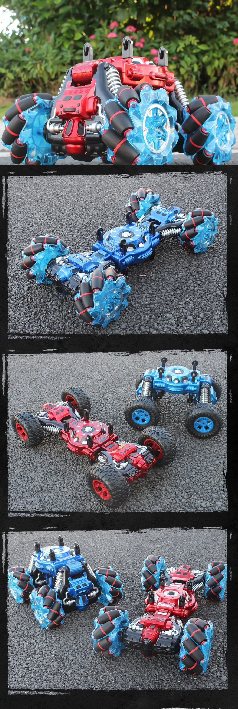 1:10 Scale 4WD Transforming RC Twist Stunt Car Remote Control Double Sided Climbing Drift Car