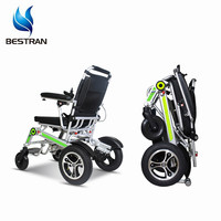 BT-XW18 Lightweight travel Aluminum alloy Fully automatic folding foldable power handicapped electric wheelchair