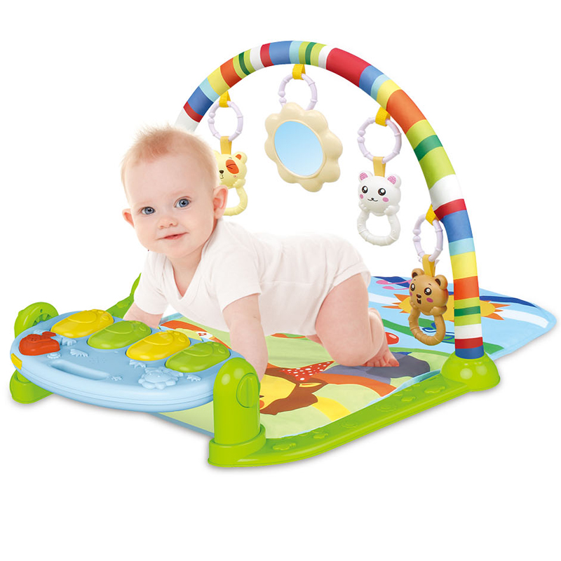 Baby play toy high quality baby piano cute design piano fitness rack with light and music 2020 popular baby fitness rack toy