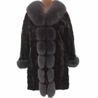 Good quality mink fur coat with price sexy women fur coat mink fur long coat
