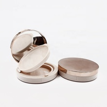 Private Label Packaging Cosmetico 100 millimetri <span class=keywords><strong>In</strong></span> Oro Rosa di <span class=keywords><strong>Plastica</strong></span> Vuota Pressed Powder Contenitore