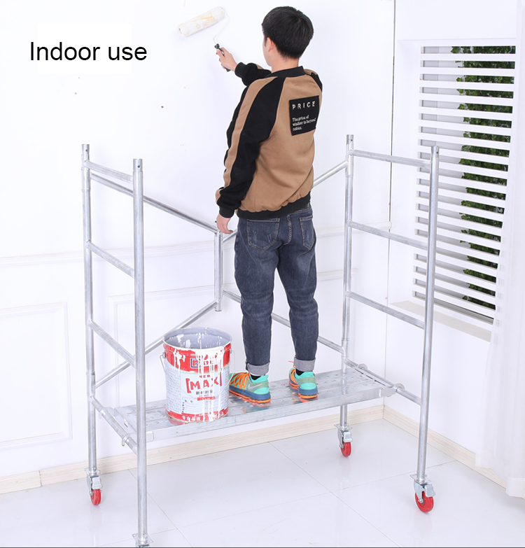 Portable durable Mini steel rolling scaffold tower foldable Mobile Scaffolding