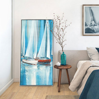 Sea Wave Sailboat Canvas Decorativos Paintings Life Inspirational Quotes Posters Large Size Print HD Pictures Pop Art