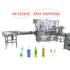 In Stock Automatic Bottle Filling Line Perfume Body Spray Bottle Liquid Filling Machine For 50ml 100ml Airless Pump Bottle
