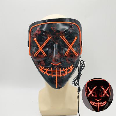 बहुत ही सस्ते दाम प्रकाश ईएल नियॉन चमकता ईएल पैनल एलईडी पार्टी कॉस्टयूम हेलोवीन मुखौटा