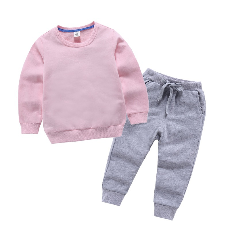 High quality crewneck 2pcs kids hoody hot sale baby clothing set boy newborn