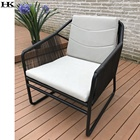 Metallic legged modern look restaurant waiting furniture synthetic rattan outdoor plastic chair