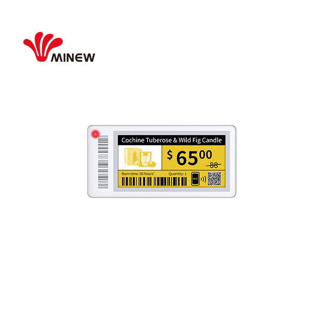 Minew 2.13 inch BLE 5.0 wireless e-ink display esl for smart retail