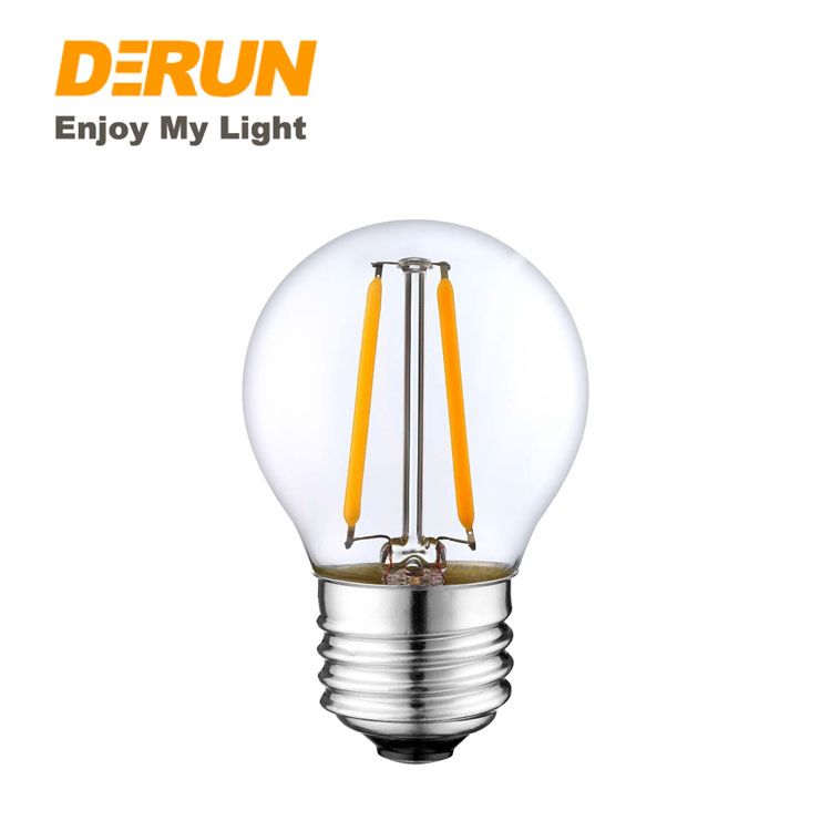 Wholesales 2W 4W 6W 220V E27 E14 2200K Dimmable G45 LED Filament Bulb Lamps for Christmas Decoration  , FMT-G45
