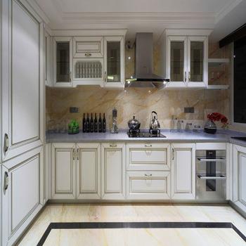 American Standard Es-02 Modern Teak Wood Kitchen Cabinets ...