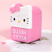 Topsthink Anak Aman Hello Kitty Rautan Pensil Menangani Plastik Kawaii Stationery Rautan