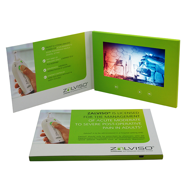 Customized 7 inch video book digital lcd tft screen video brochure catalog for greeting gift invitation business card marketing