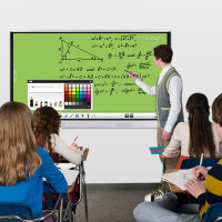 "65"" OPS PC Infrared Interactive Whiteboard Multi Touch Digital Smart Board For Classroom"