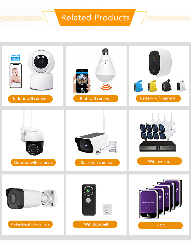 1080P HD 360 with night vision cloud record home security wifi wireless smart home ip camera cctv