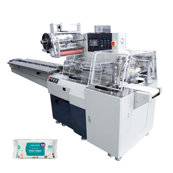 VT-210W Servo Driven Automatic Punching labeling wet tissue/Wet napkin/wet wipes packing machine