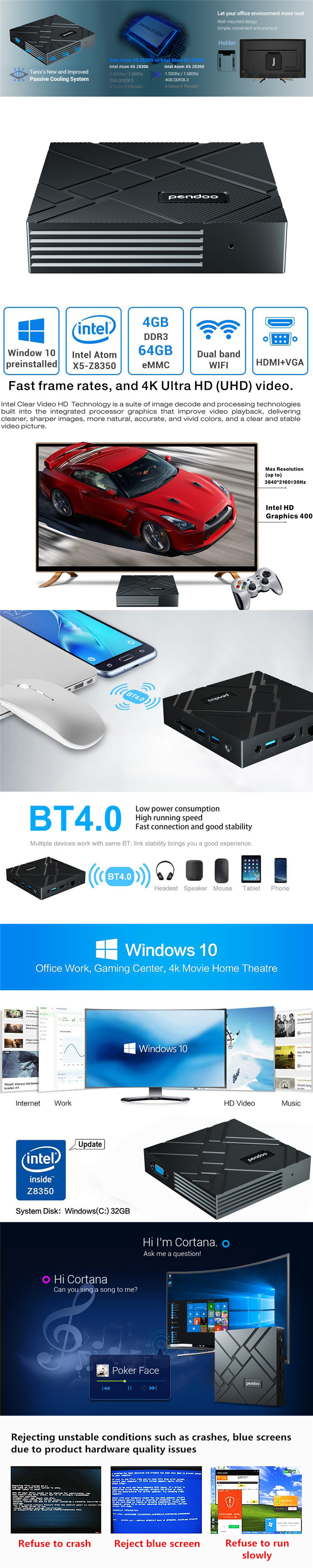 Pendoo factory mini pc x88 2.4g 5g wifi online gaming cheap android tv box  motherboard gaming mini pc