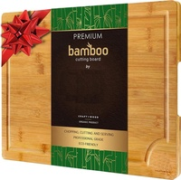 EXTRA LARGE Organic Bamboo Cutting Board with Juice Groove - Best Kitchen Chopping Board for Meat Cheese and Vegetable