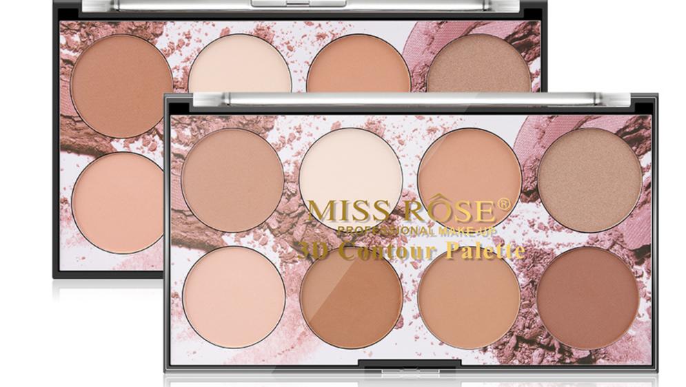 Miss Rose model No.7003-050N 8 Colors Moisturizing 3D Repair Powder facial Contour
