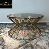 metal steel base coffee tea table wholesale european style modern design golden metal round glass top office coffee tables