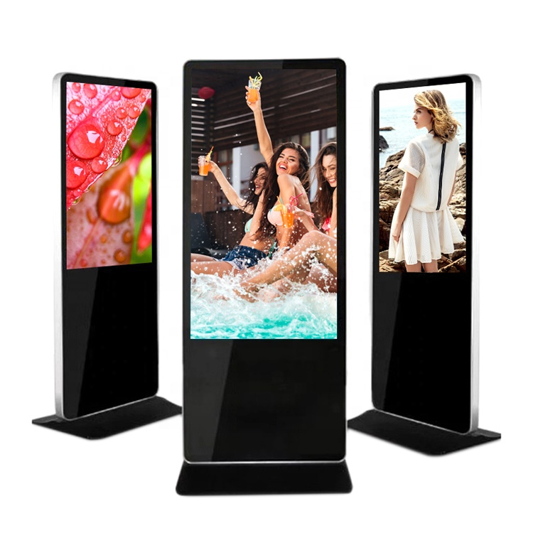 43inch 49inch 55inch lcd stand alone USB version outdoor totem advertising led display screen player digital signage