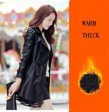 Женская куртка из искусственной овчины, черная приталенная куртка средней длины из искусственной кожи, 7XL, WUJ1210(Китай)