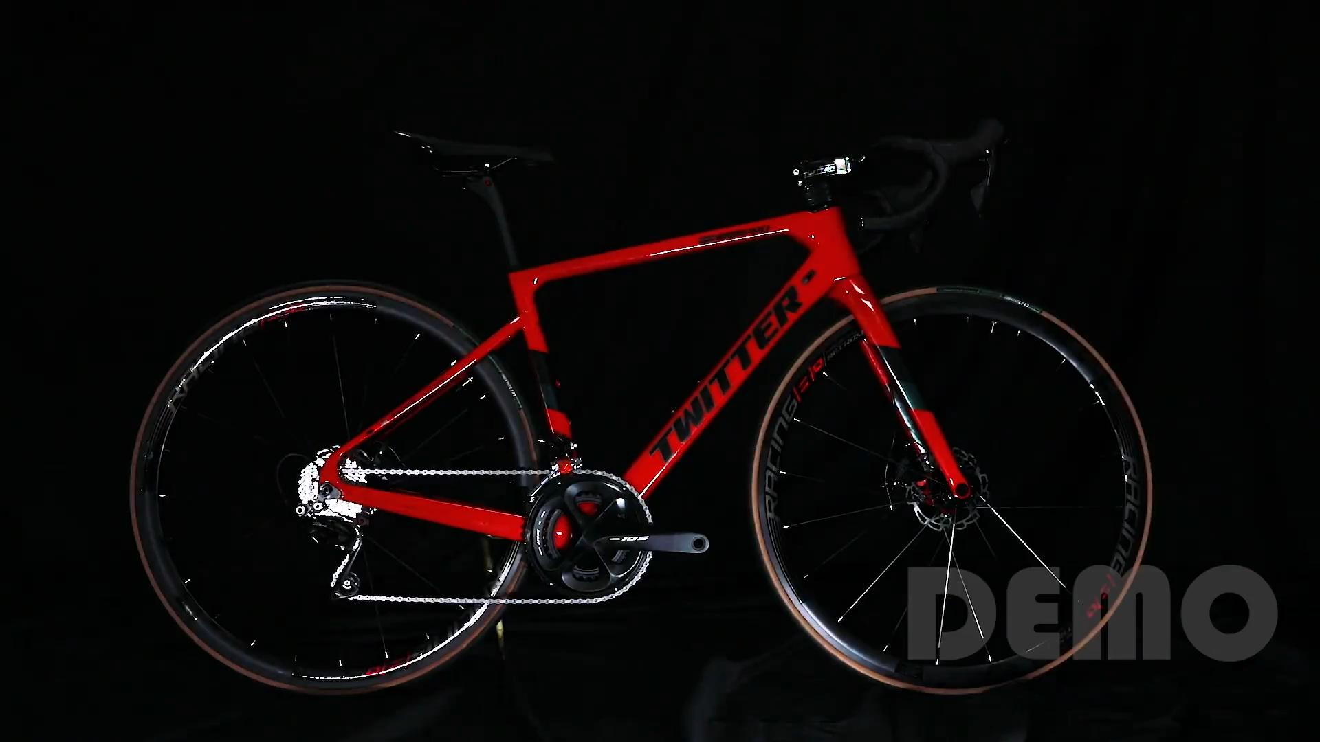 2020 New 700C carbon road bike disc brake thru axle carbon frame 22 speed  road bike bicycle