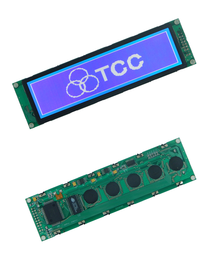 Custom lcd module 320x64 graphic intelligent screen T6963 controller monochrome 320*64 lcd display