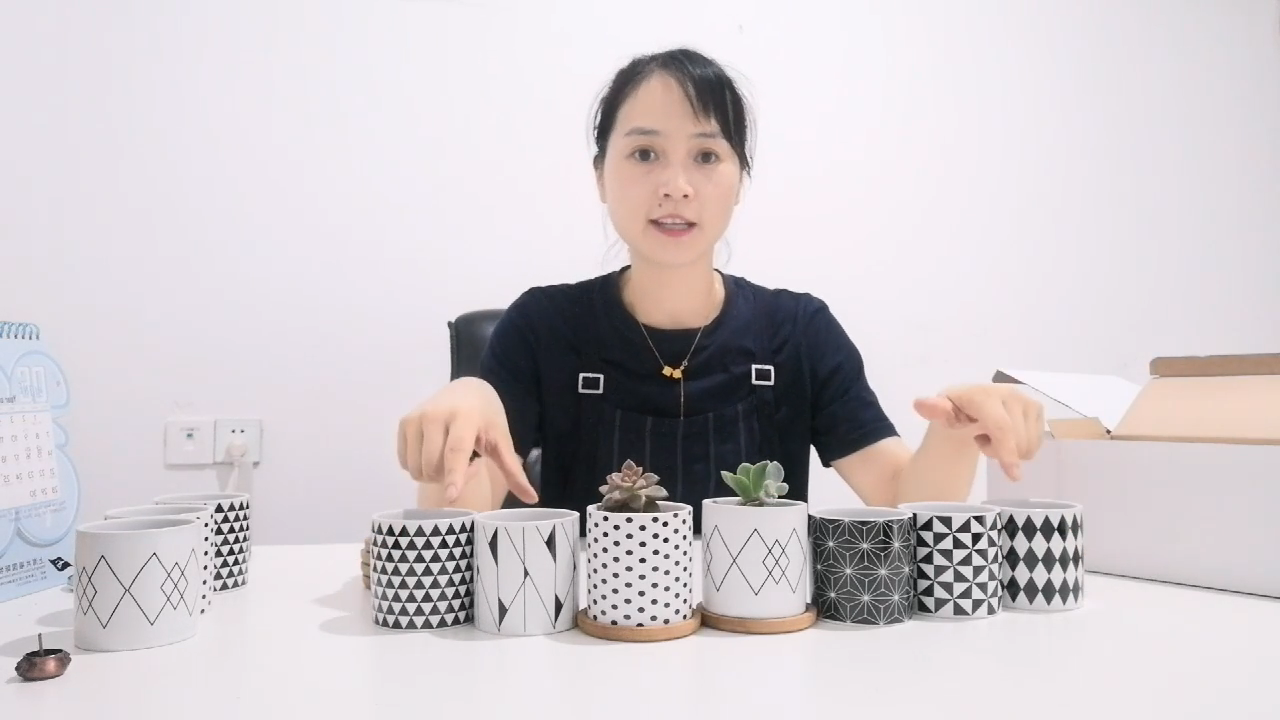 Chinese Ceramic Flowerpot Indoor Decoration Cheap Wholesale Small Mini Ceramic Flower Pot